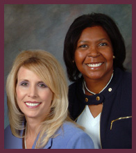 Janette Andrews, MD, Kelly Renae Gerow, MD, the two physicians at The Group For Women